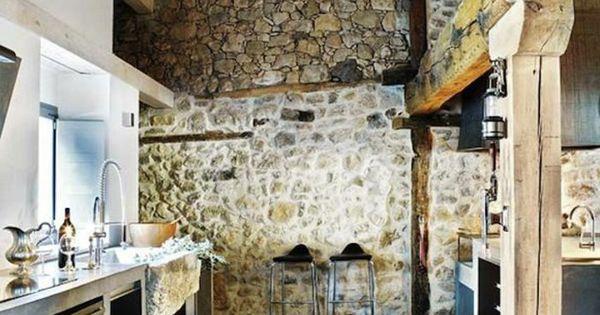 le mur en pierre apparente en 57 photos fausse pierre plafond et mur. Black Bedroom Furniture Sets. Home Design Ideas