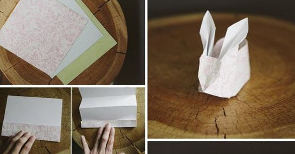 How to fold paper craft origami bunny step by step DIY ...