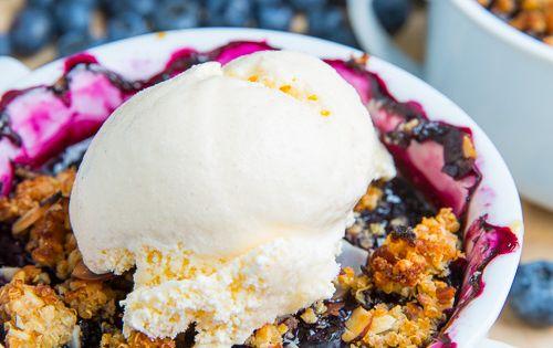 Blueberry Almond and Amaretto Quinoa Crisp | Recipe | Quinoa, Almonds ...