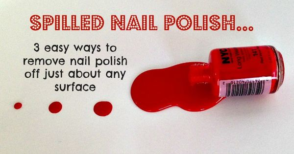 remove nail polish from almost all surfaces using household items remove nail polish cleaning. Black Bedroom Furniture Sets. Home Design Ideas
