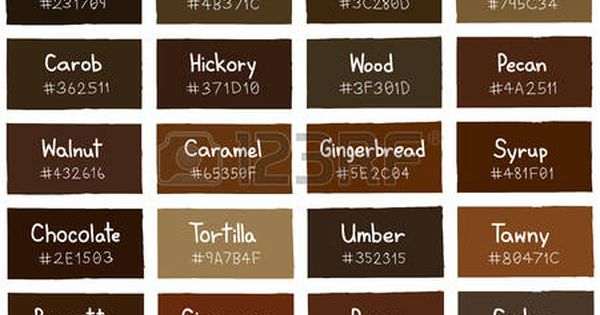 Brown Tone Color Shade Background With Code And Name Illustration Shades Of Brown Paint Brown Paint Colors Brown Color Palette