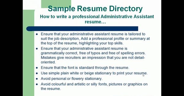 Resume Format,Professional Administrative Assistant Resume - professional administrative assistant sample resume