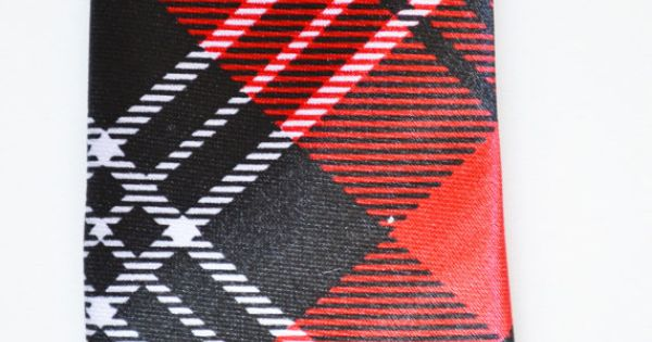 Mens Tie Red and Black Modern Tartan Pattern Skinny by TiestheKnot, $8.99
