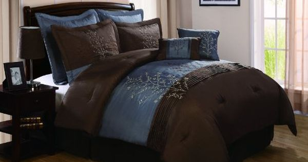 Chocolate Brown And Blue Bedding Sets Brown Comforter Sets Brown Comforter Comforter Sets
