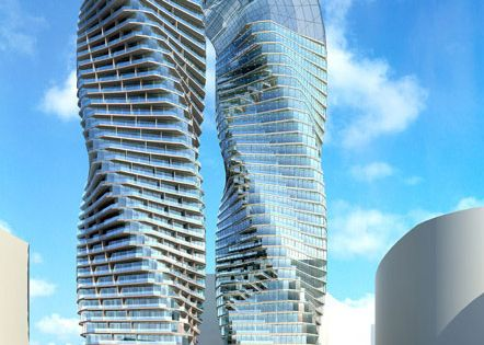 The DNA Towers - The twin towers will comprise both residences and