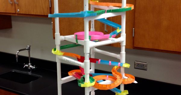 paper roller coaster using 1  2 u0026quot  pvc for structure  pipe