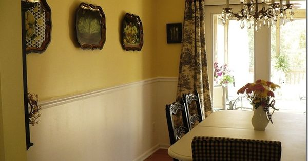 BEADBOARD WALLPAPER AND CHAIR RAIL FOR DINING ROOM