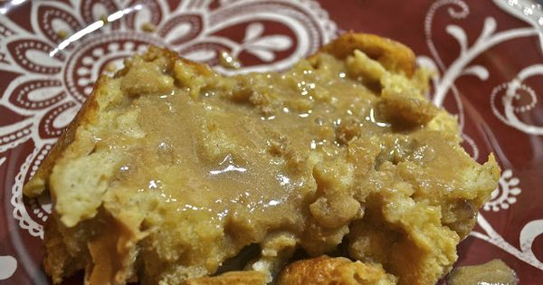 """""""Point-less"""" Meals: dessert: Bread Pudding with Salted Caramel Sauce. 7+ entire blog"""