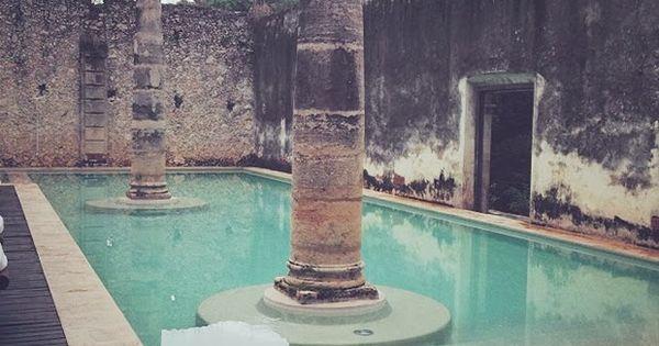 Hacienda ruins repurposed as swimming pools haciendas for Repurposed swimming pool