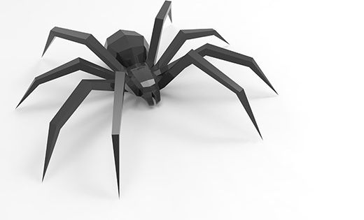 Size Cm 11x42x38 7 Paper Format A4 Template Sheet 5 Details Parts 37 Complexity Middle Rules For Using Downloa Spider Paper Models Paper Crafts