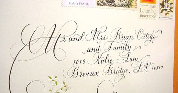Great Wedding Calligraphy For Addressing Wedding