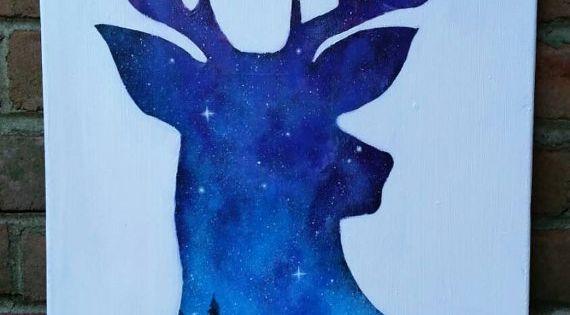 Deer Head Art Paint Canvases