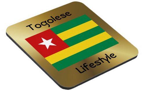 Togo Flag Text Coaster Zazzle Com Togo Flag Togo Flag
