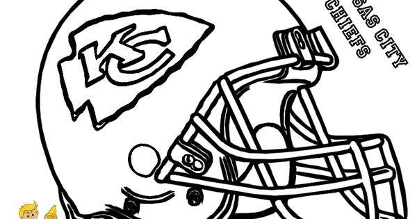This is a graphic of Irresistible Kc Chiefs Football Coloring Pages