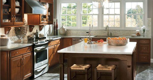 Aristokraft landen saddle kitchen cabinets google search for Aristokraft oak kitchen cabinets
