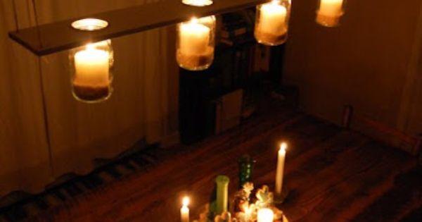The Great Indoors: Winter Pinterest Challenge: Mason Jar Chandelier