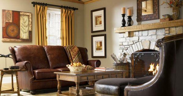 landhausstil möbel wohnzimmer ledersofa kamin Möbel - Designer - englischer landhausstil wohnzimmer