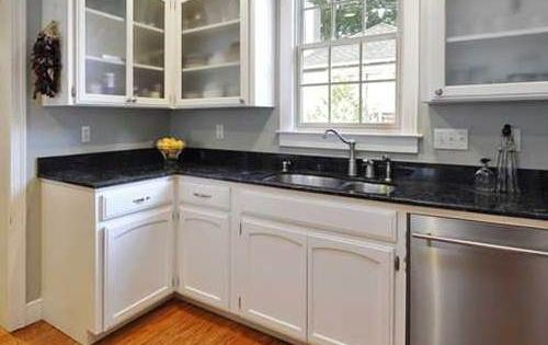 Kitchen With White Cabinets Stainless Steel Appliances