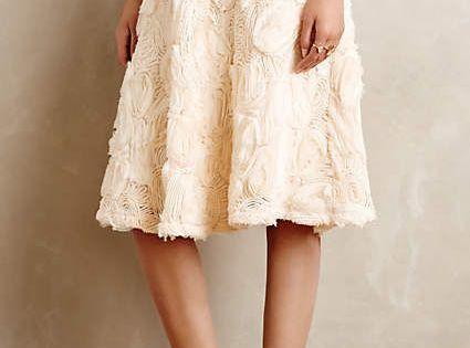 Midi skirt - Tufted Blossom Midi Skirt - anthropologie.com