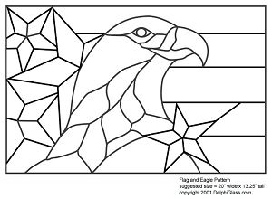 Free Flag And Eagle Pattern Stained Glass Patterns Free Stained