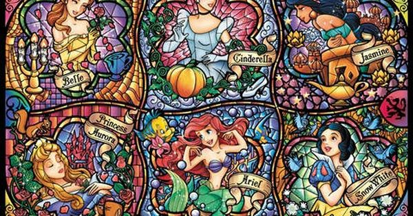 Counted Cross Stitch Disney Princess Stained by crossfandomxstitch, £5.00