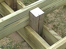 How To Extend An Existing Deck Expand An Old Deck Make A Deck Bigger By Adding More Posts And Joists Building A Deck Deck Framing Deck Railing Diy