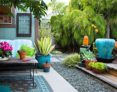 Outdoor space -- Di Zock, of dizockgardens.com, designed her backyard for the