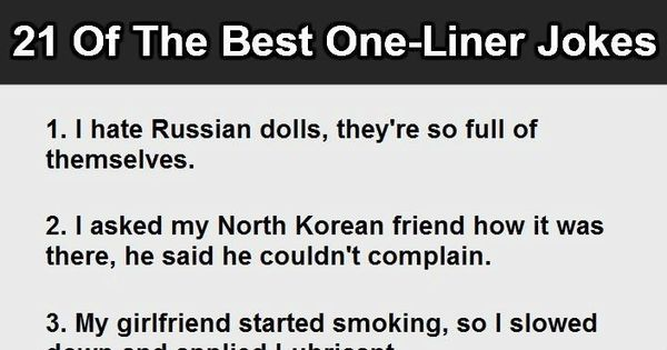 50 Painfully Funny One Liners