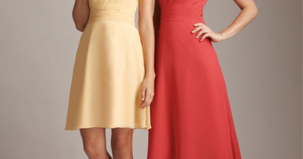 Shop Allure Bridals: Style: 1228. The short dress comes in coral.
