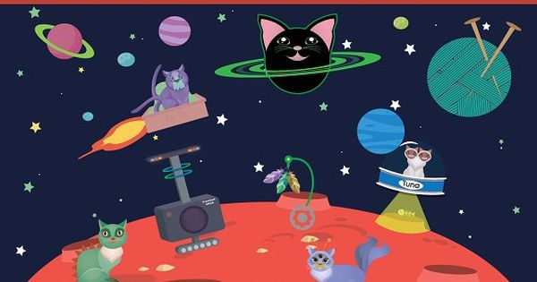 Planet Meow – 40 Alien Cat Elements by Hunt Family Design on @creativemarket