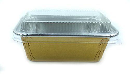 Disposable Foil 4 Gold Mini Loaf Pans Mini Bread Pans Small Pans