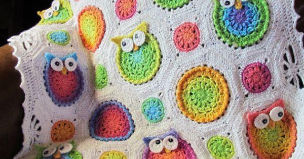 Crochet Pattern Owl Obsession Free : CROCHET PATTERN - Owl Obsession - a colorful owl afghan ...