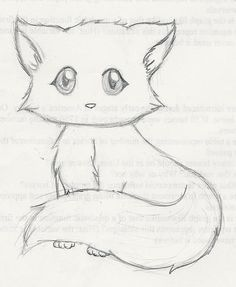 Easy Kitten Drawing : kitten, drawing, Detailed, Drawing, Kitten, Gallery..., Going, Clean, Later, Still, Drawing,, Animal, Drawings,, Drawings