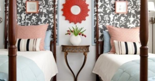 """not this - but """"headboard"""" idea for guest room!!!"""