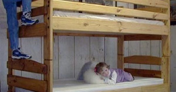 Bunk bed plans for this twin twin stackable bunk bed for Stackable bed plans