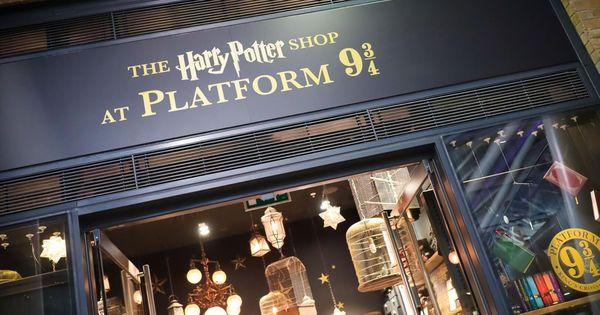 The Harry Potter Shop At Platform 9 3 4 In King S Cross Station London Inside The Magic Harry Potter Shop Potter Harry Potter Kings Cross