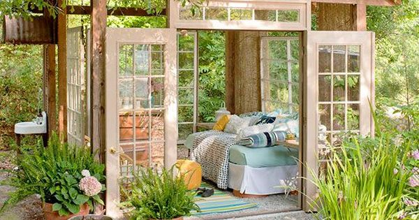 I have wanted an outdoor room made of old windows and old