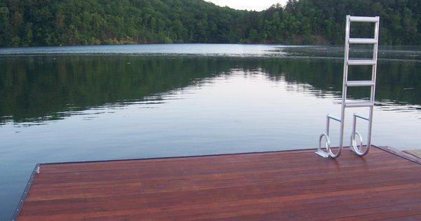 Floating dock with swim platform i could live on this for for Pool platform ideas