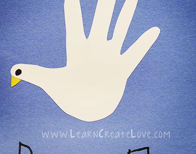 Handprint Dove Craft Learncreatelove Com Kid Blogger