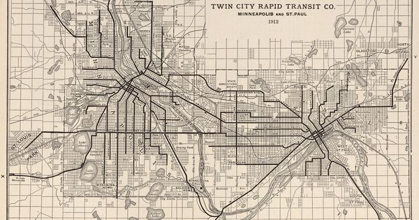 Twin City Rapid Transit Company Minneapolis And St Paul