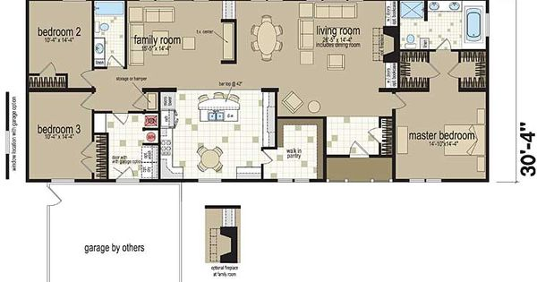 Floor Plans The Covington 3424 Manufactured And