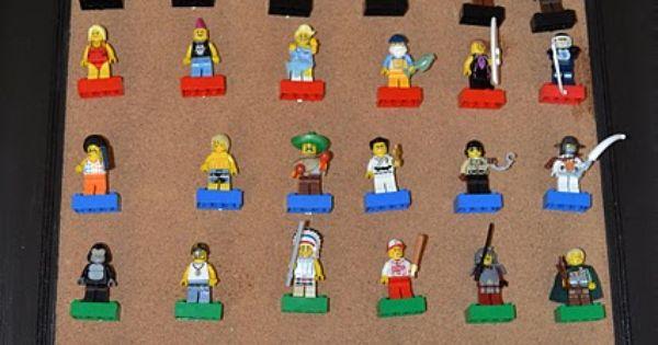 DIY Lego display. Just glue push pins to the bricks! | The Evan-ator ...