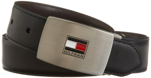 Tommy Hilfiger Men's Interchangable Buckle and Reversible