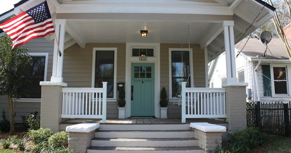 Uncovered Front Porch On Brick House Superb House Front