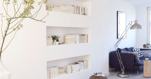 Une pièce à vivre claire et lumineuse, style scandinave, et de jolies