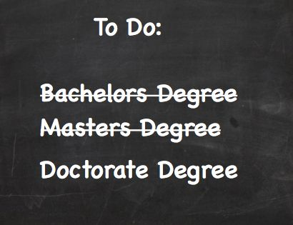 Doctorate degrees without dissertation