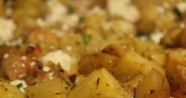 Check out Roasted Greek Potatoes with Feta Cheese and Lemon. It's so ...