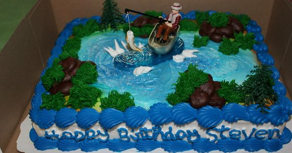 Fishing Theme Birthday Cake Walmart Bakery 20 Im