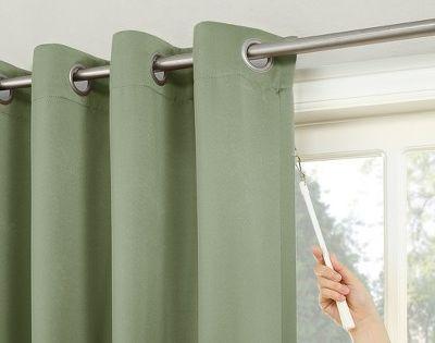 100 X84 Kenneth Extra Wide Blackout Sliding Patio Door Curtain Panel Green Sun Zero Sliding Patio Doors Patio Door Curtains
