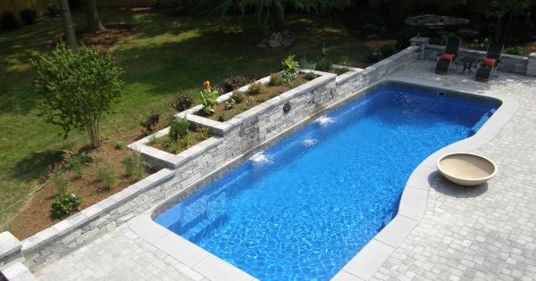 Inground Pool Ideas For Slopes Complete List Of Fiberglass Pool Manufacturers Pool Fireplace